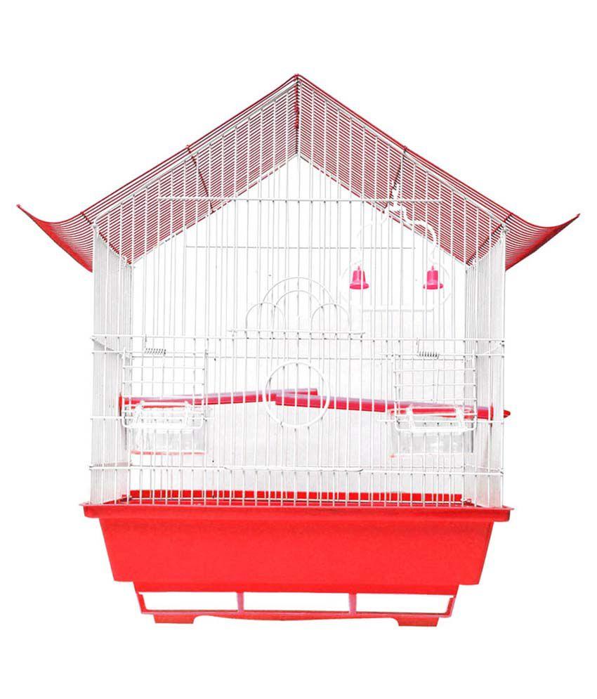 Hawai Red Virgin Plastic Bird Cage