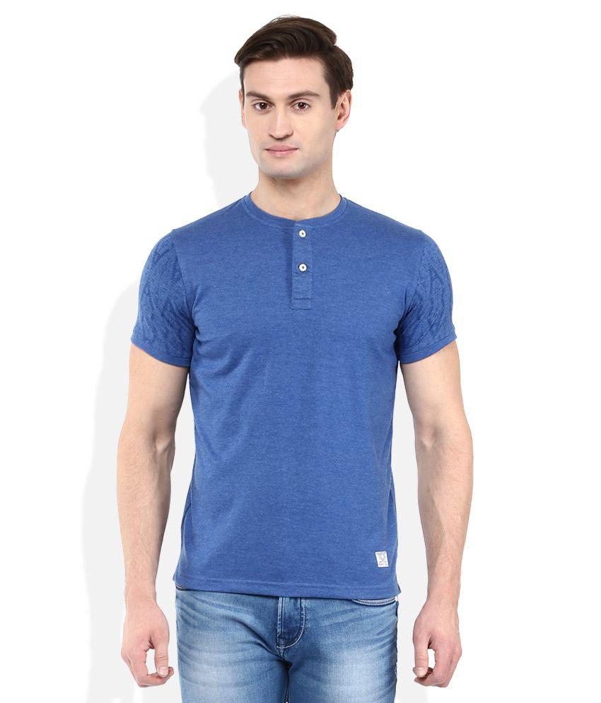 Killer Blue Solid T-Shirt