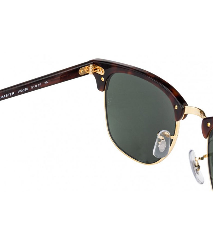 ray ban rb3016  ray ban green clubmaster sunglasses (rb3016 w0366 51 21)