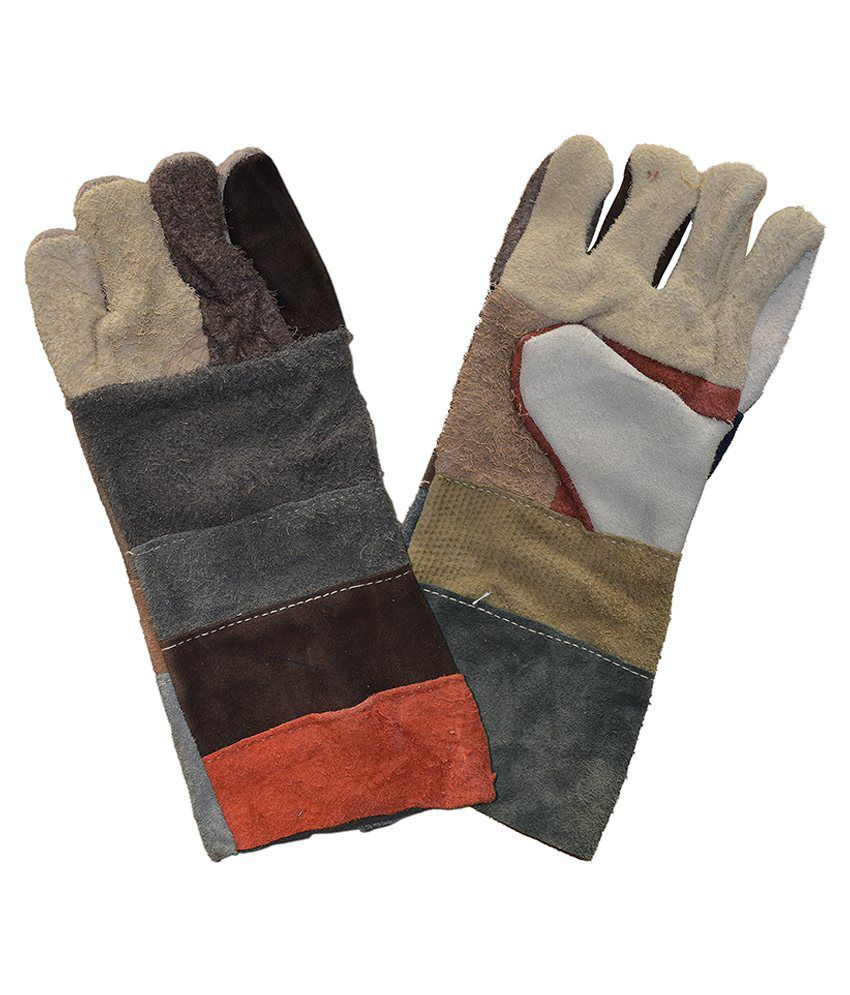 Buy leather hand gloves online india - Enaco Multicolour Leather Hand Gloves Pack Of 10