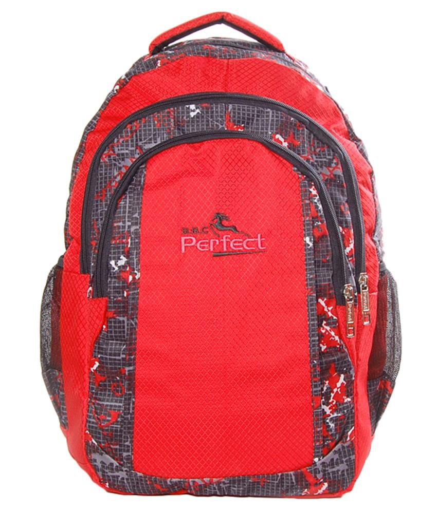 BBC Perfect Red Polyester Laptop Bag