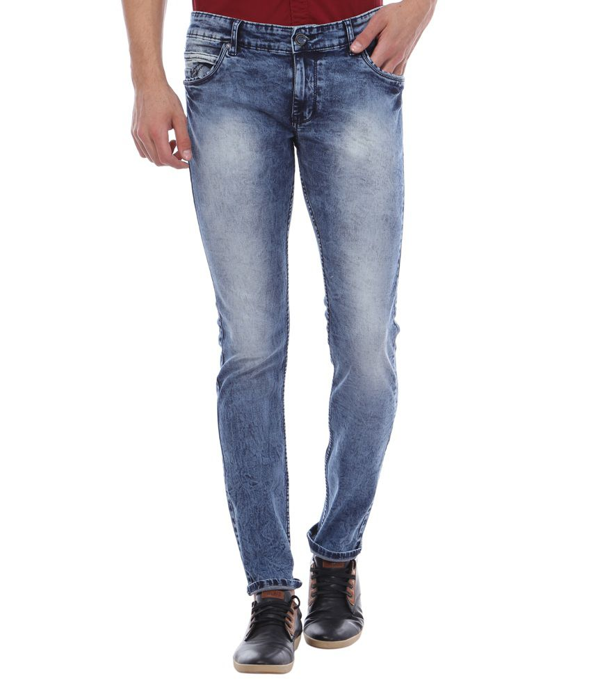 Bandit Blue Slim Fit Faded Jeans