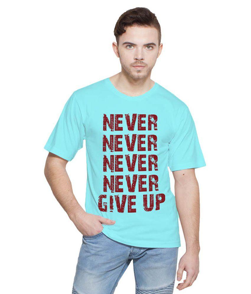 Printing Geeks Turquoise Round T Shirt