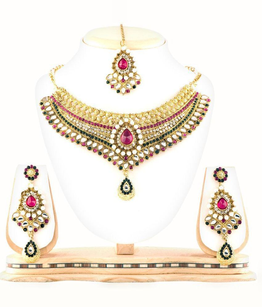 RG Fashions Jewellery Multicolour Designer Necklace Set