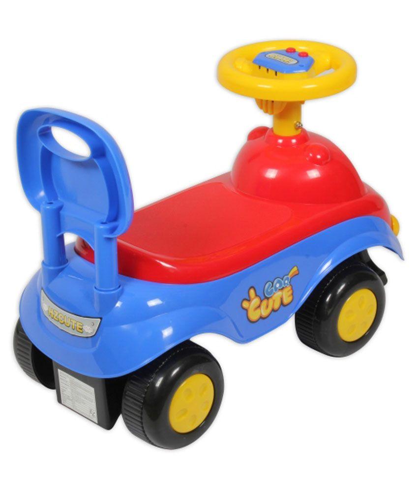 ez playmates cute car kids ride on redblue