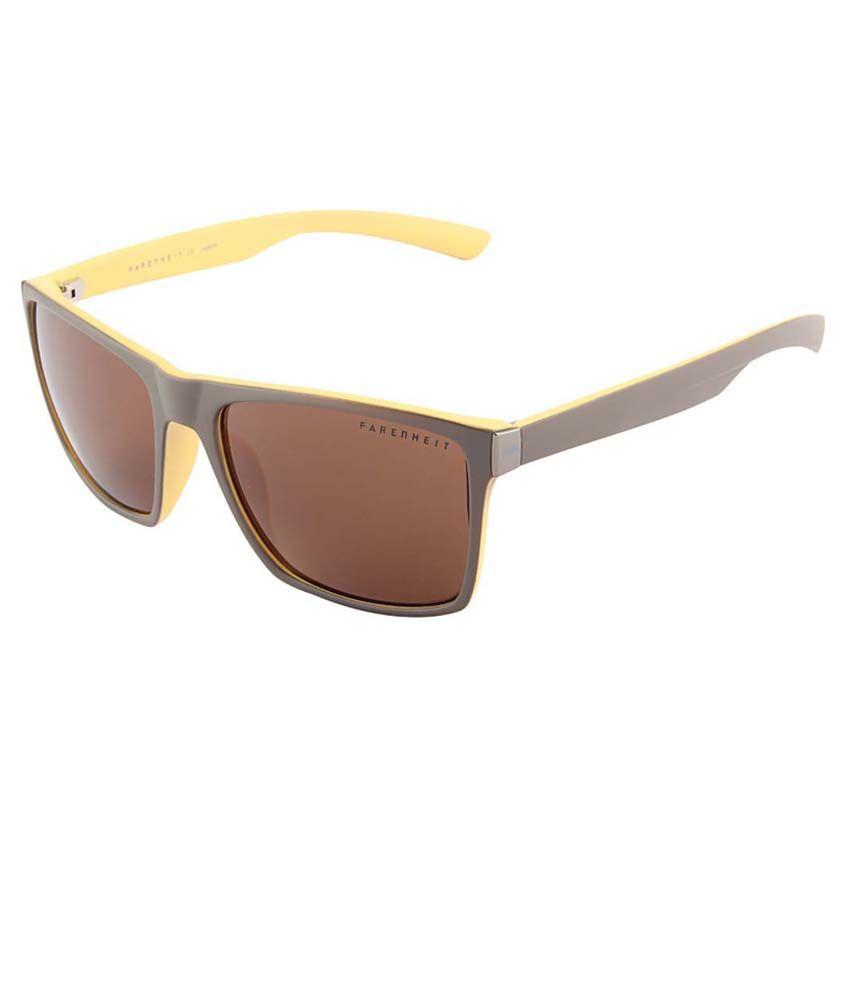 Farenheit Brown Rectangle Sunglasses