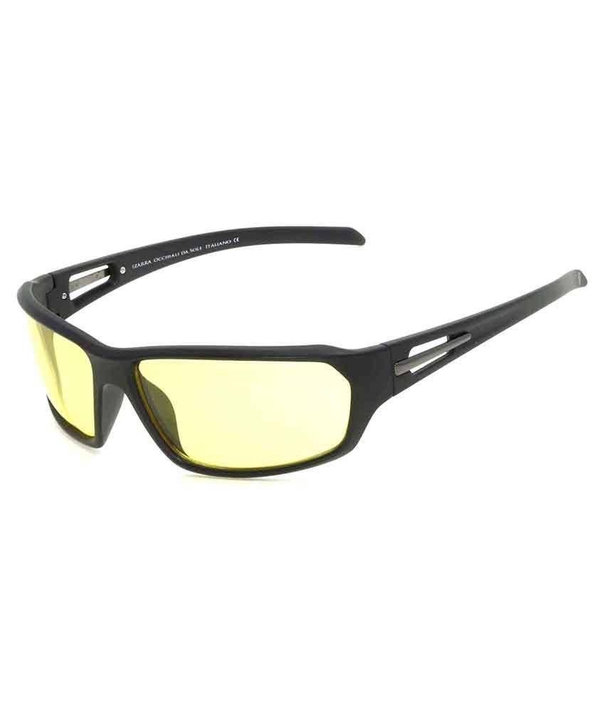 Izarra Yellow Wrap Around Sunglasses