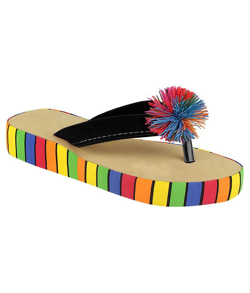 Fashion Victory Black Flip Flops