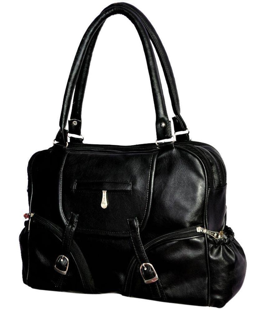 Pagwin Black P.U. Shoulder Bag