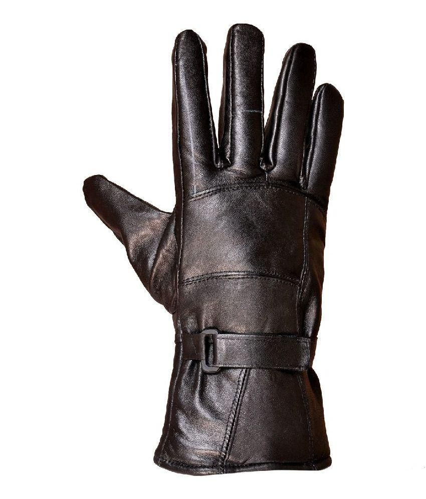 Tahiro Black Leather Driving Gloves - 1 Pair