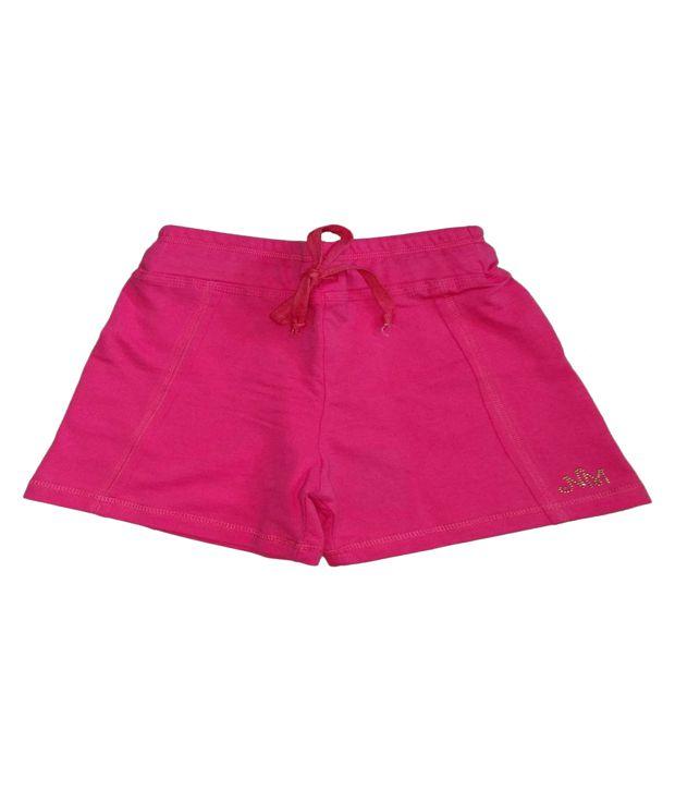 Titrit Peach Viscose Shorts