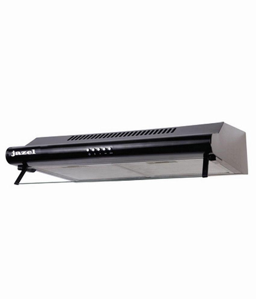 JAZEL 60cm 500 SAGE-BK Straight Line Chimney Black