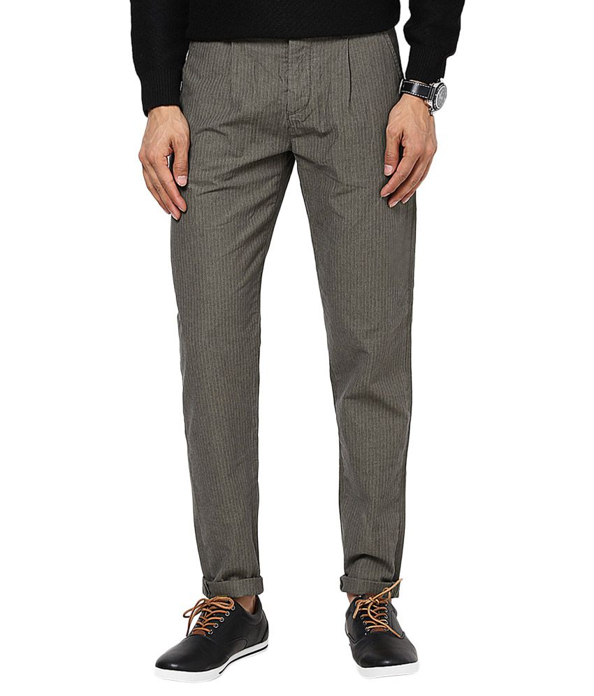 Jack & Jones Grey Slim Fit Trousers