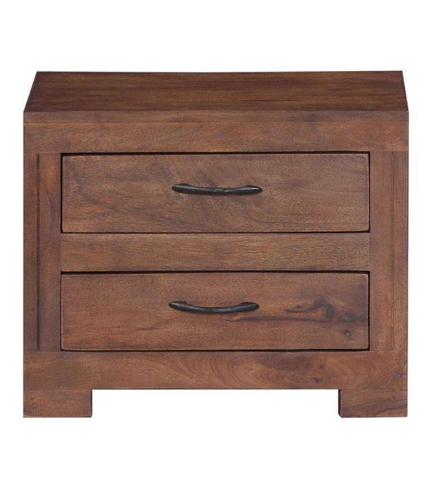 Smart Choice Sheesham Wood Stylish 2 Drawer Bedside Table