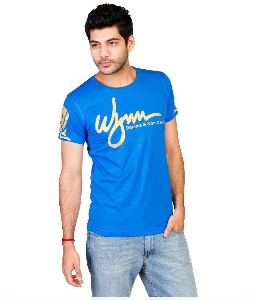 Wynn Blue Round T Shirt