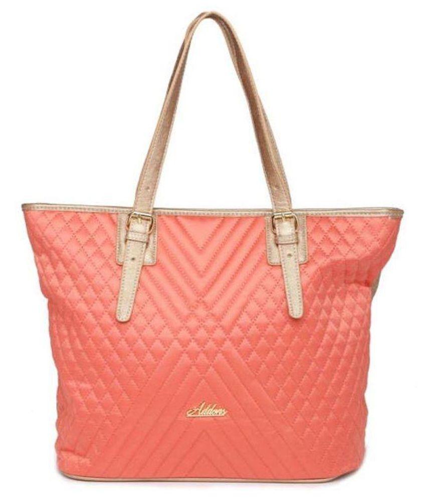 Addons PeachPuff P.U. Tote Bag