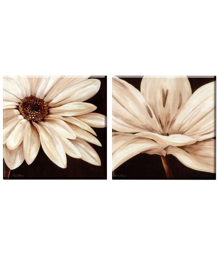 Elegant Arts & Frames Floral Canvas Wall Hanging - Set of 2: Buy ...