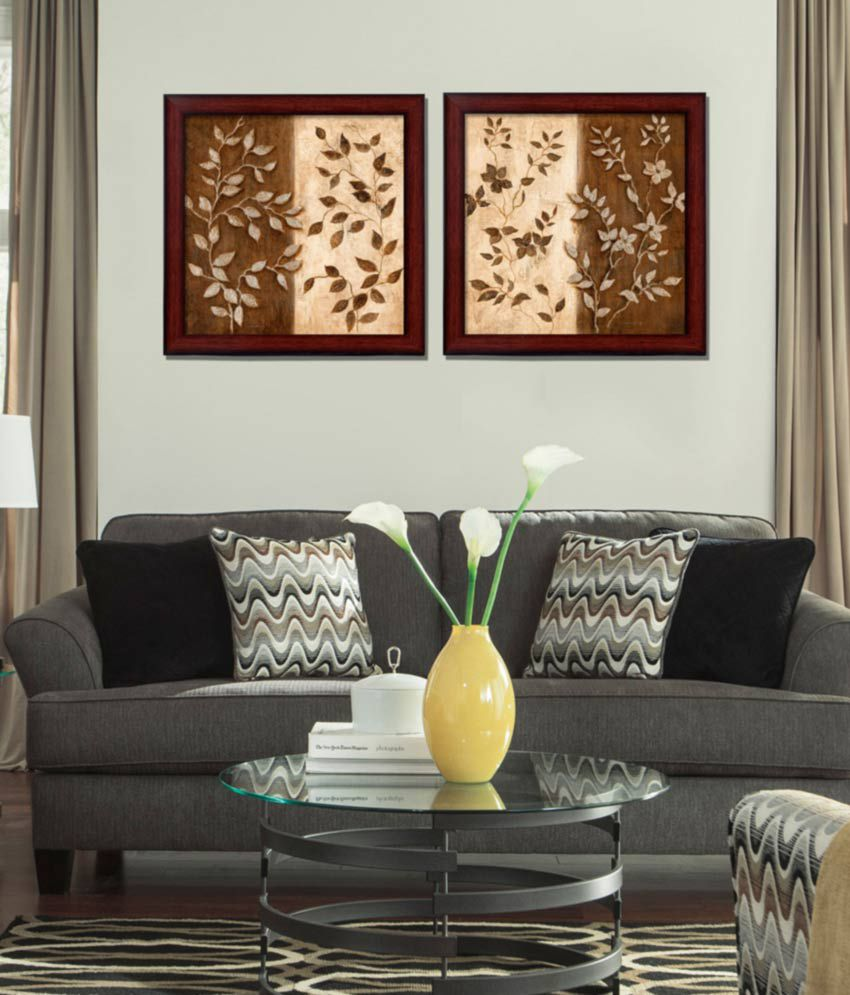 Elegant Arts & Frames Matte Wooden Wall Frame - Set of 2