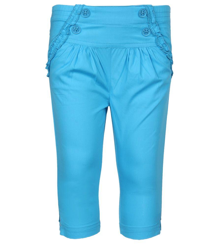 FS MiniKlub Blue Solid Capris
