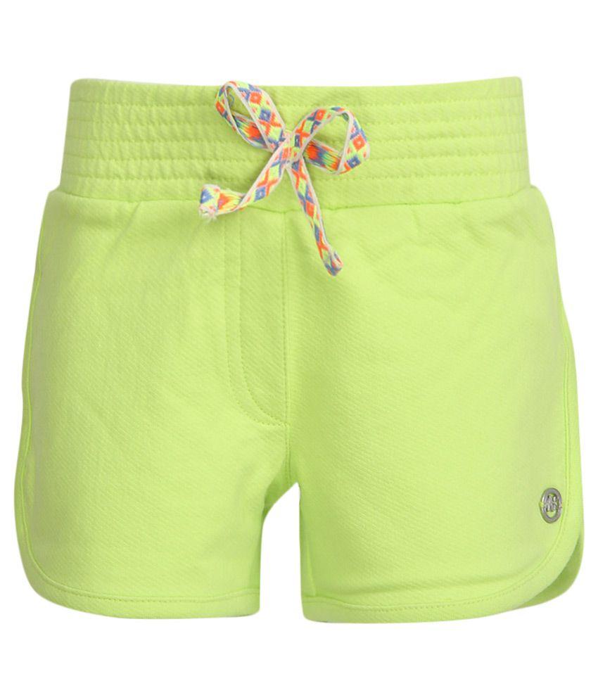 FS MiniKlub Green Solid Shorts