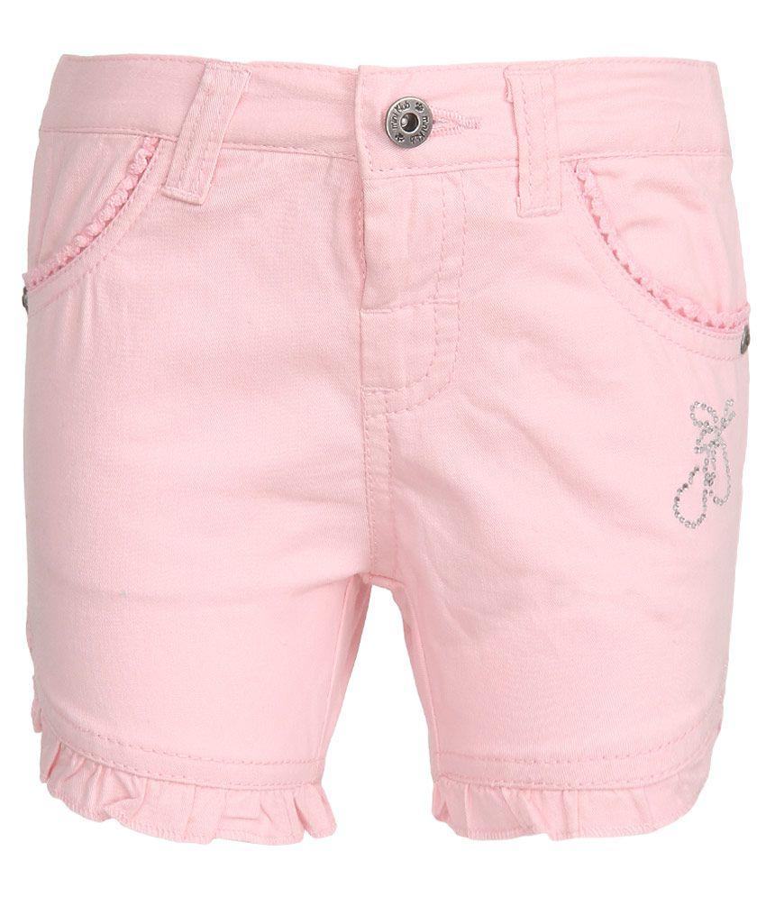 FS MiniKlub Pink Solid Shorts