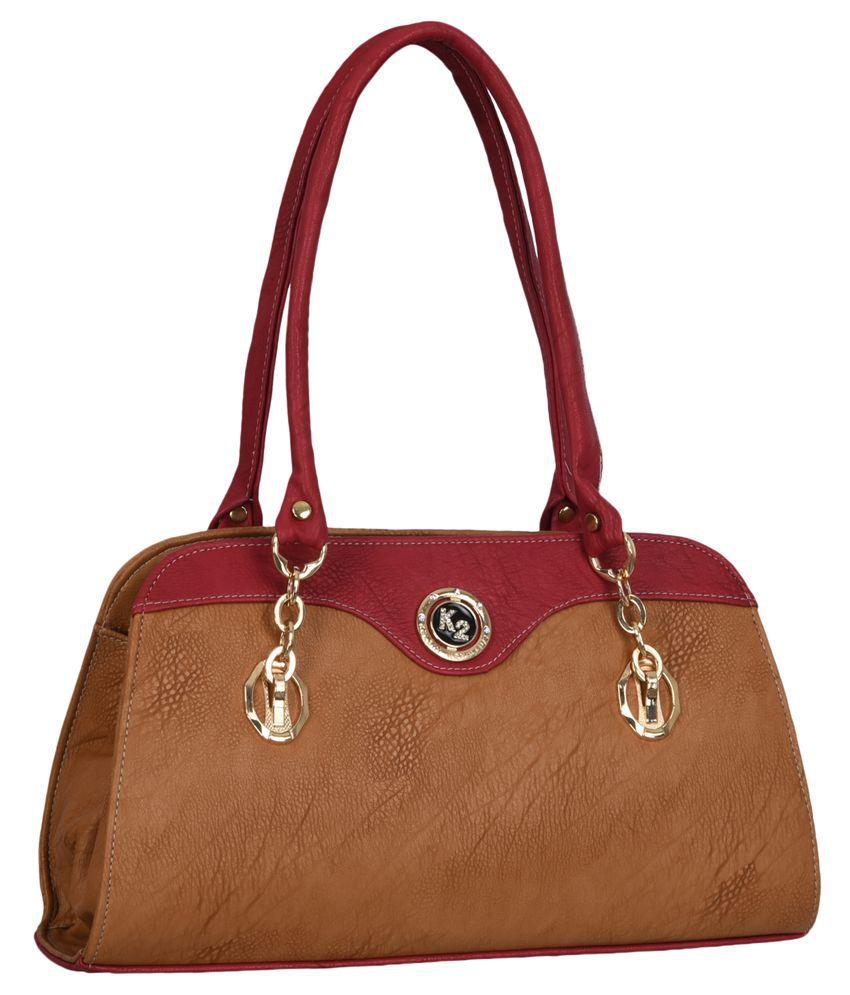Fantosy Tan Synthetic Shoulder Bag