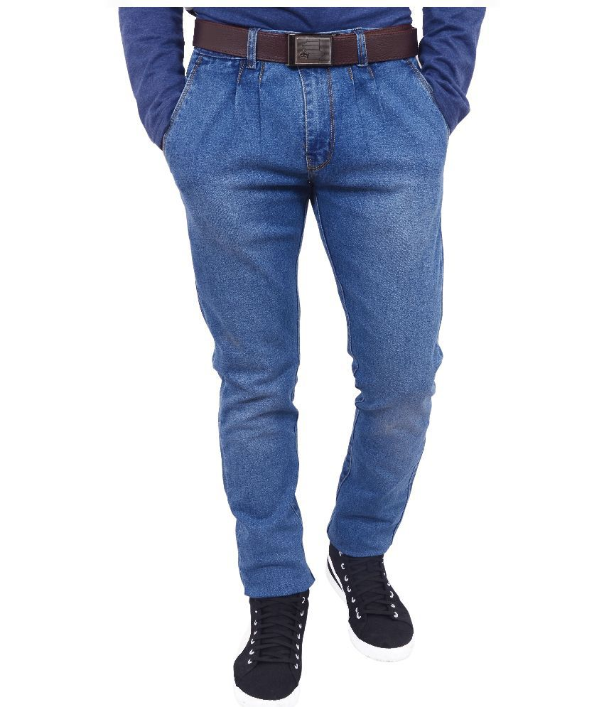 Hartmann Blue Slim Fit Solid Jeans