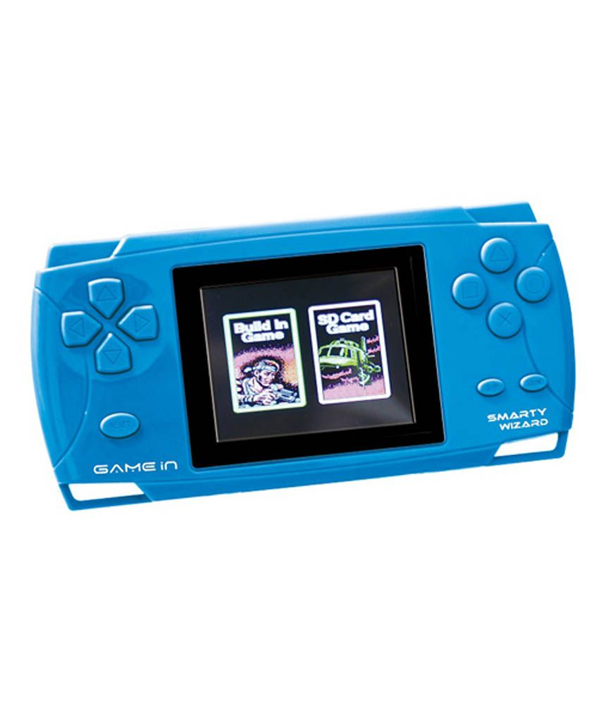 Mitashi Game In Smarty Wizard Handheld Gaming Console-Blue
