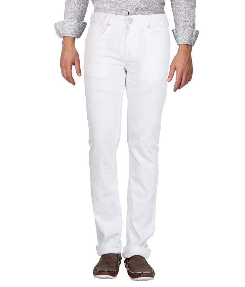 Mufti White Super Slim Fit Jeans