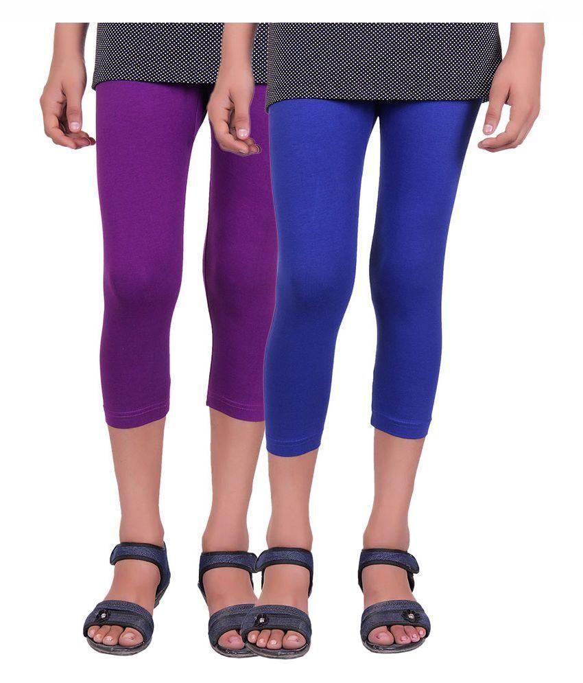 Alisha Multicolored Cotton Capri - Pack of 2