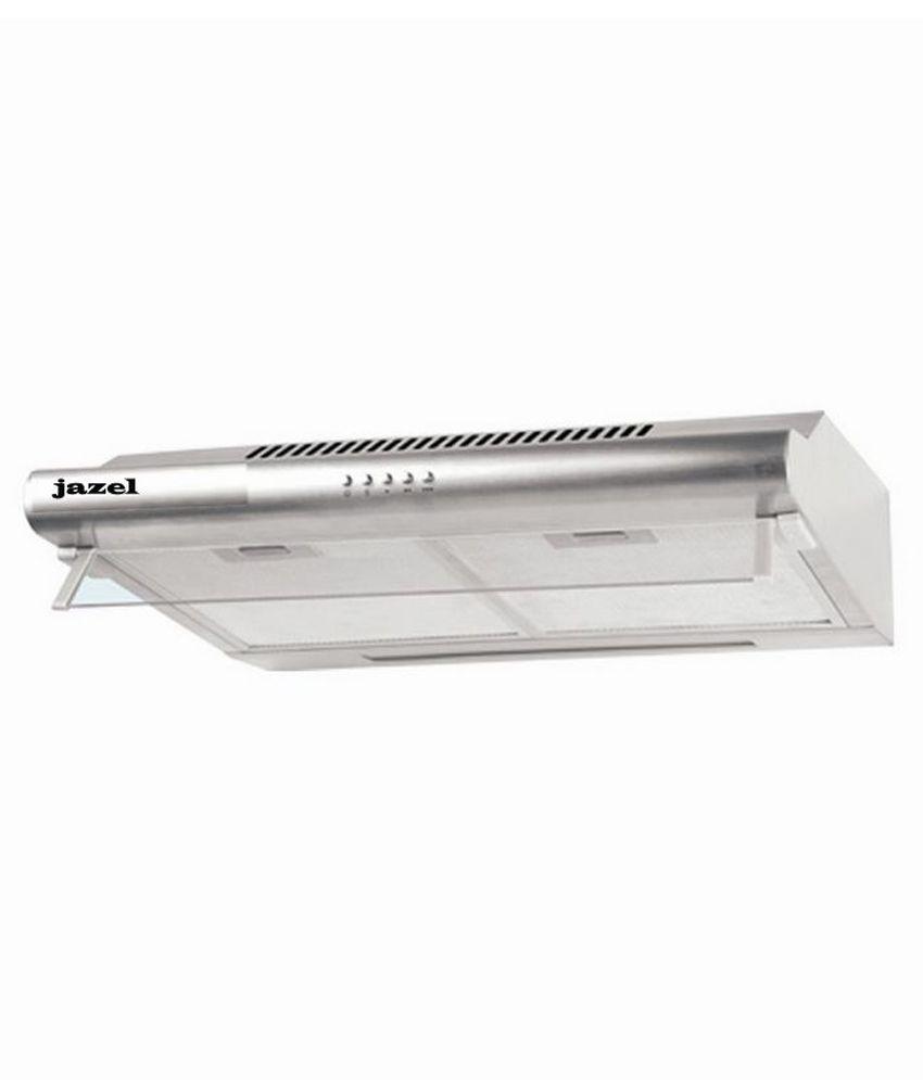 Jazel 60cm 500 SAGE-SS Straight Line Chimney Silver