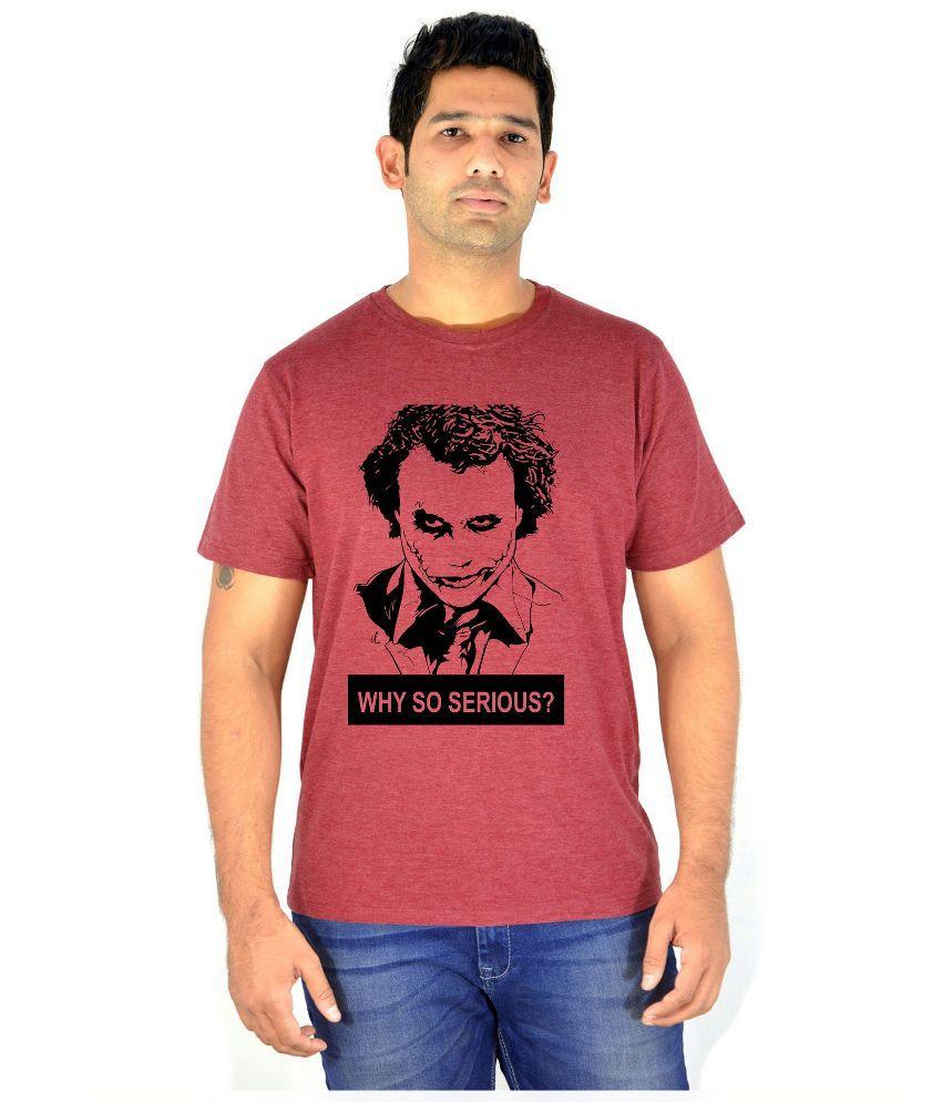 Komnil Maroon Round T Shirt
