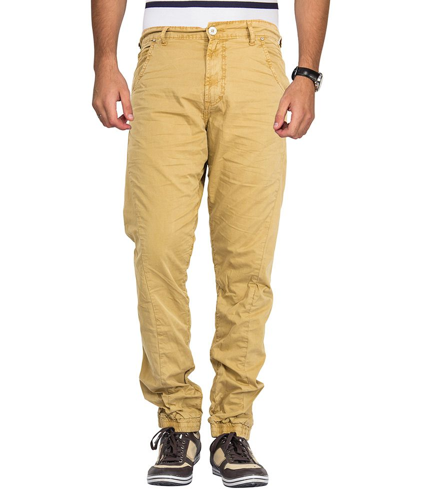 Mufti Khaki Regular Fit Joggers