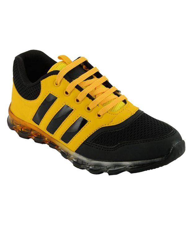 Feddo Yellow Running Shoes