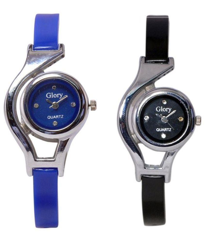 Glory Blue and Black Analog Watch