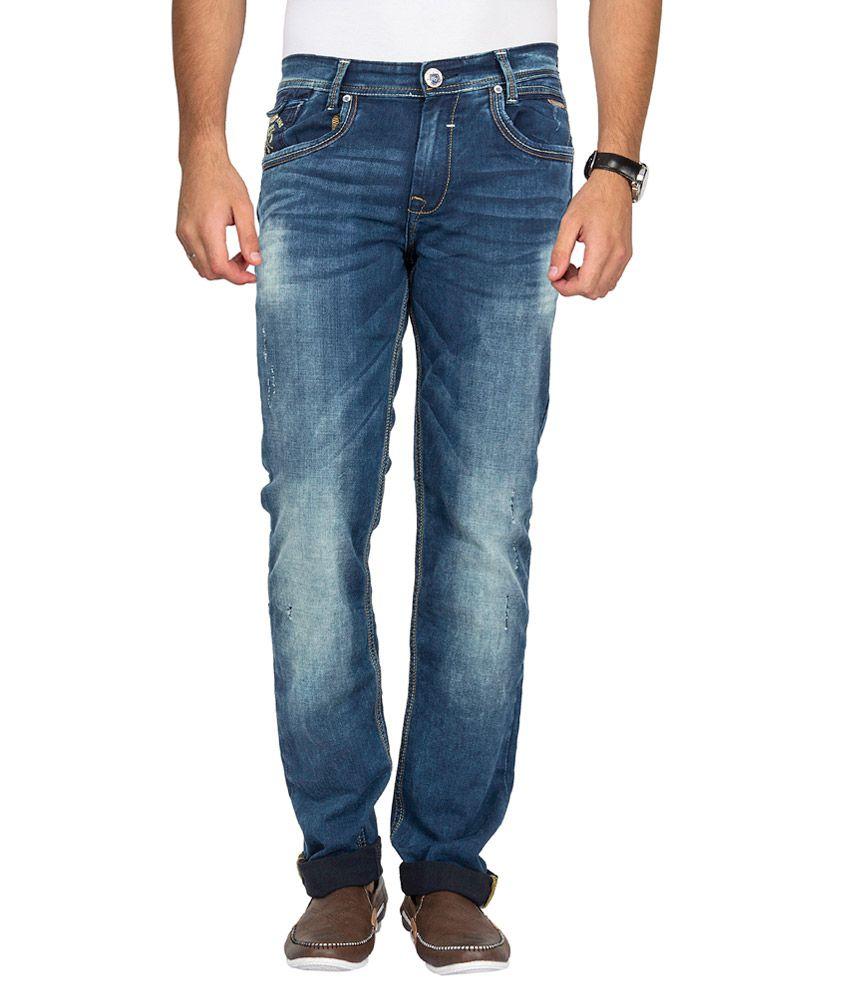 Mufti Blue Narrow Fit Jeans