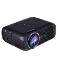 Everycom X7 LED Projector 1800 Lumens HDMI USB VGA TV Home Theater Black