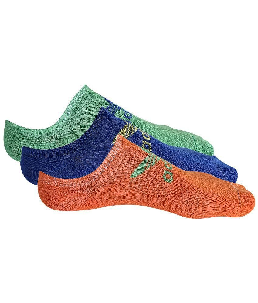 Adidas Multicolour Cotton Footies - Pack Of 3 Pair