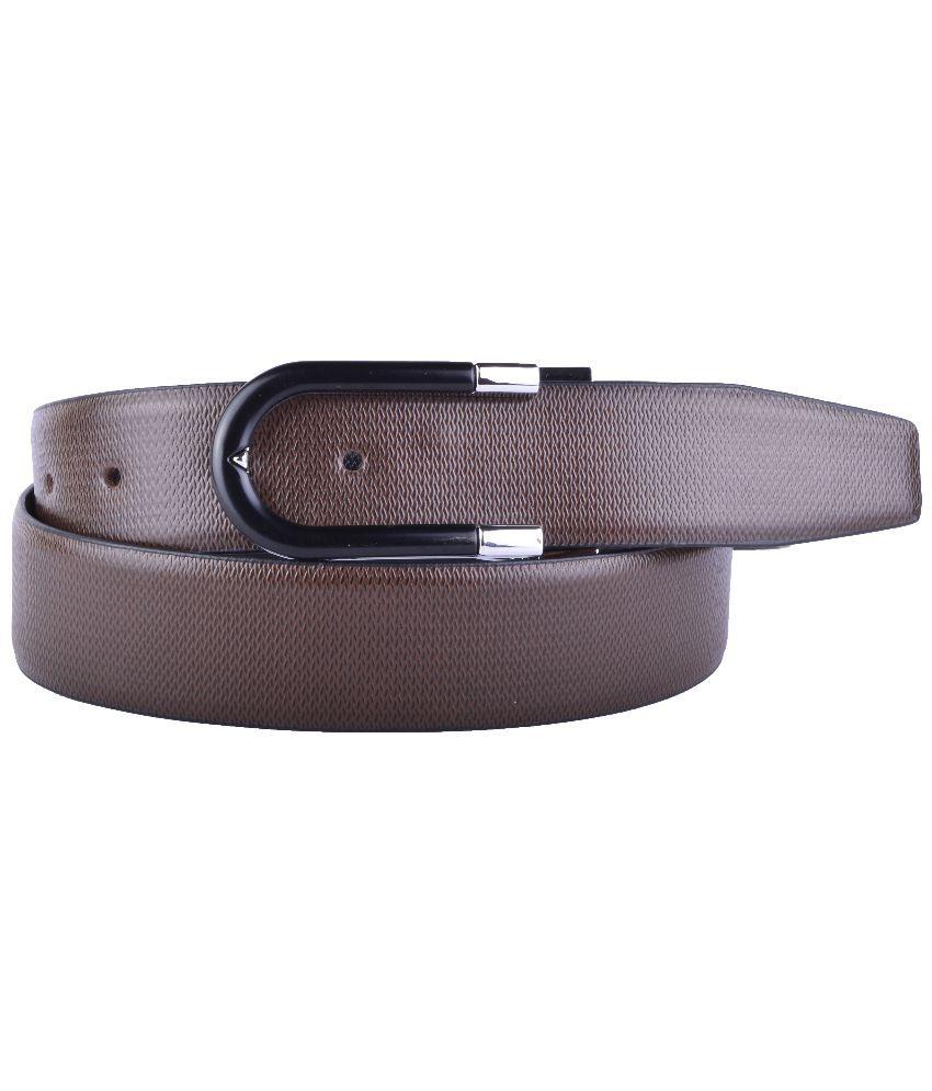 Callesto Brown Leather Reversible Formal Belt