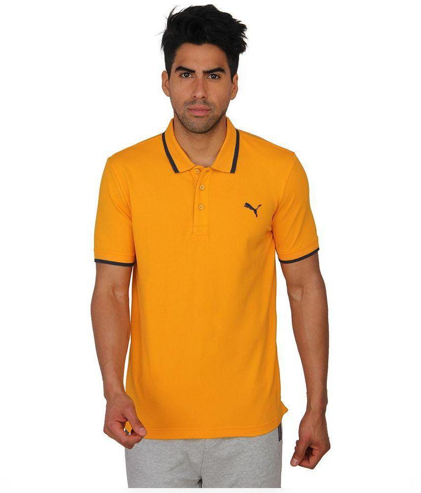 Puma Yellow Polo T Shirts