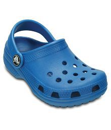 Crocs Roomy Fit Blue Clog For Kids