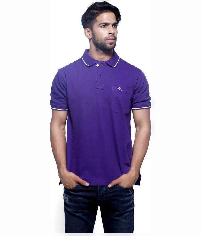 Cute Hubby Purple V-Neck T Shirt