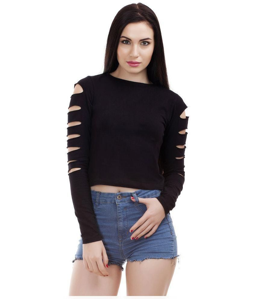 768a6fdee53ac Dracht Cotton Crop Top - Buy Dracht Cotton Crop Top Online at Best Prices  in India on Snapdeal
