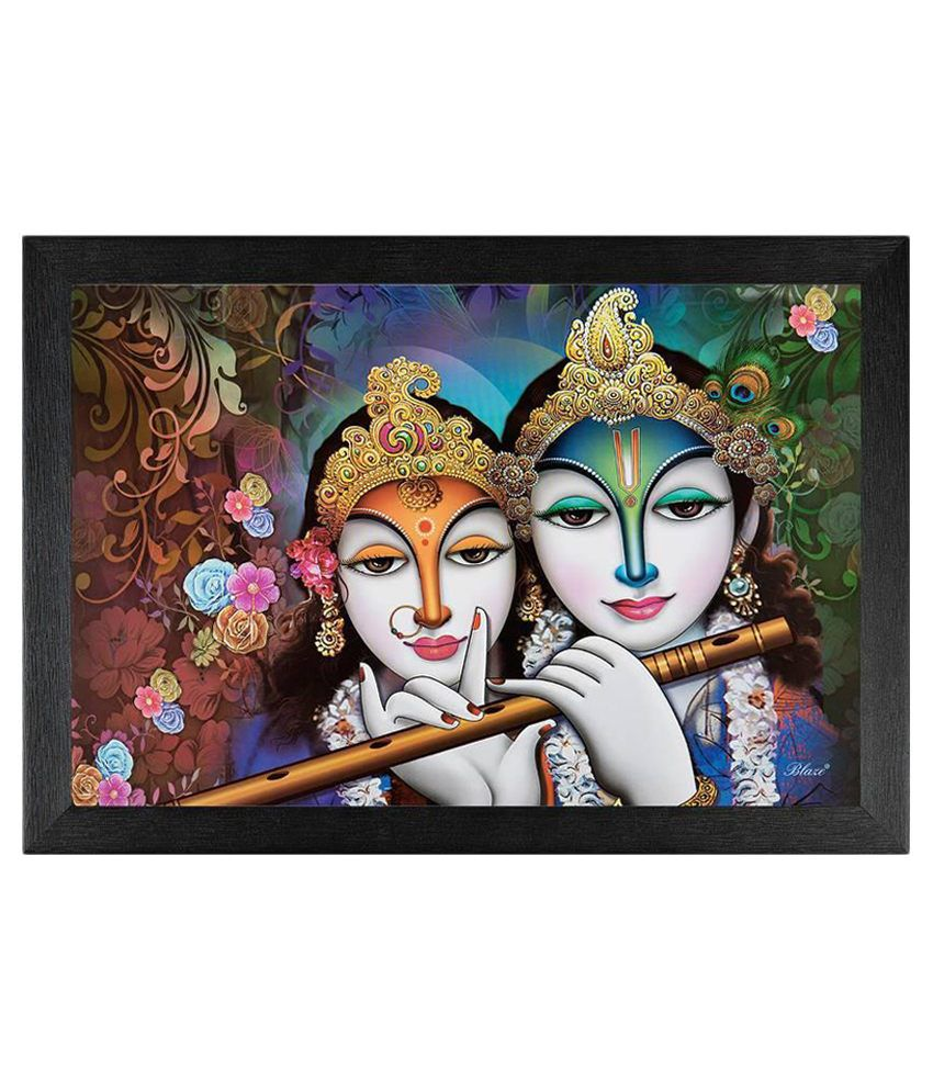 JAF Multicolour Radha krishanc Painting with Frame