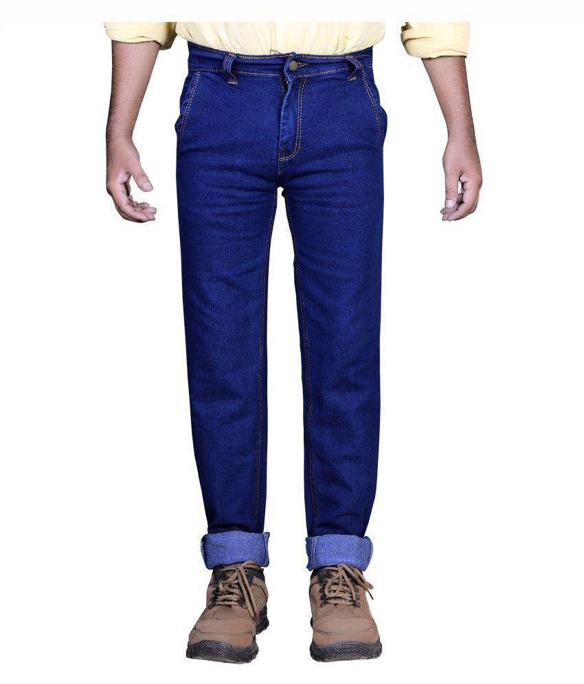 Priyansh Enterprise Blue Regular Fit Solid Jeans