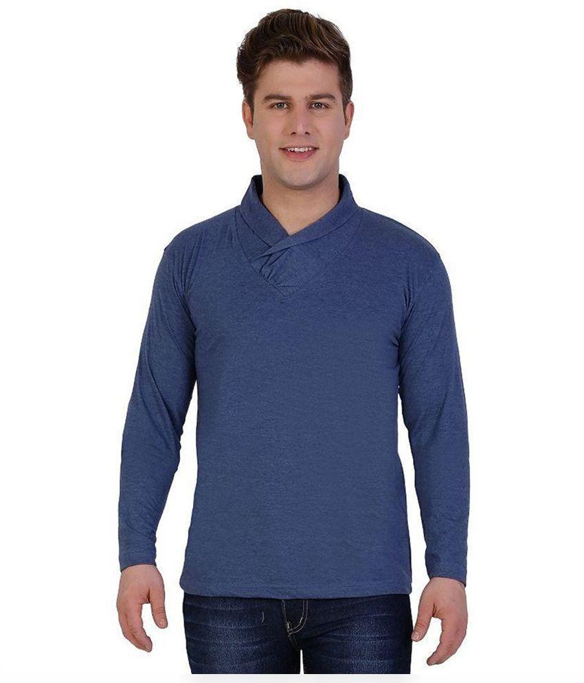 Sciocco Blue V-Neck T Shirt