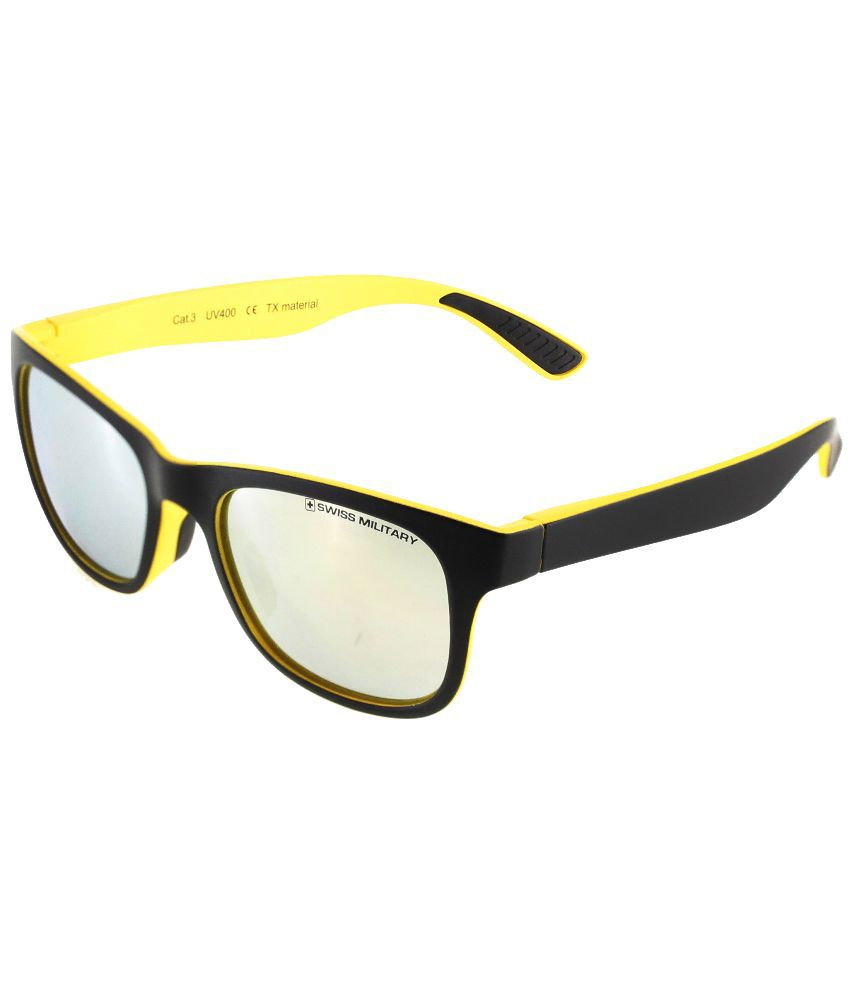 Swiss Military Clear Square Sunglasses ( SUM48 )