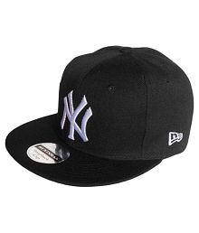 Tahiro Black Cotton Baseball Cap
