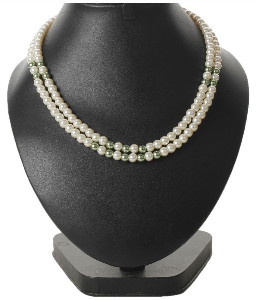 Bling N Beads White Pearl Necklace