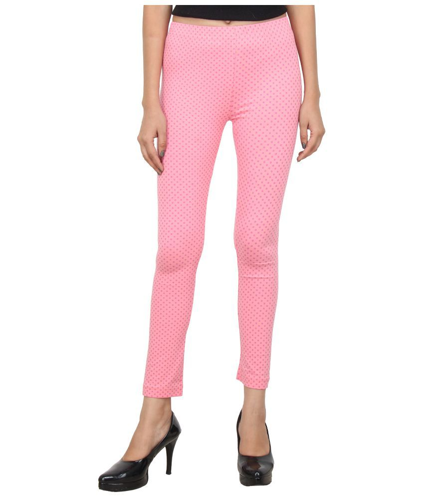 Eimoie Pink Cotton Lycra Leggings